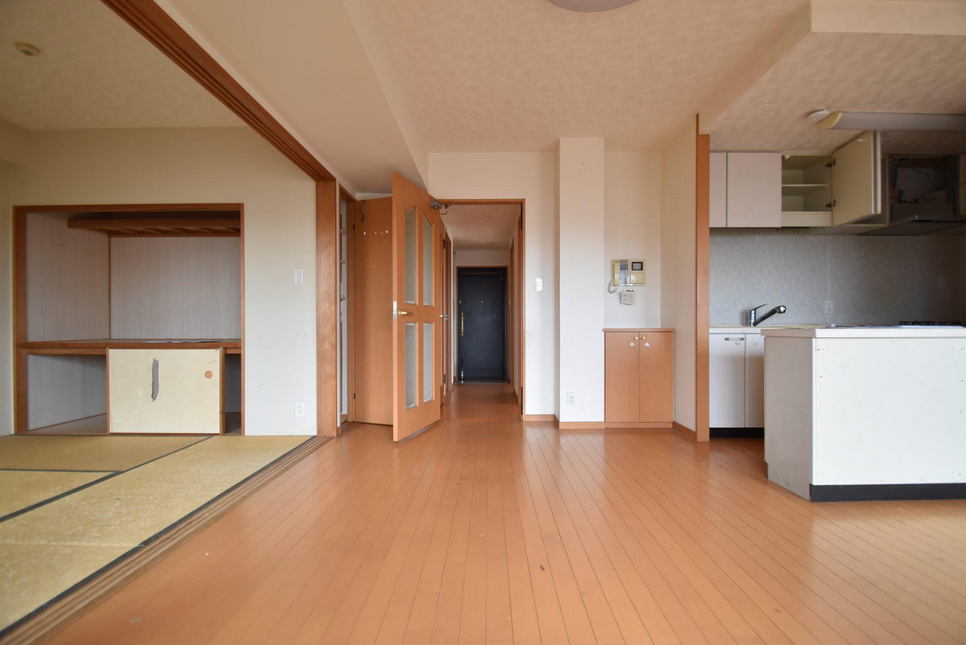 LDKと和室。