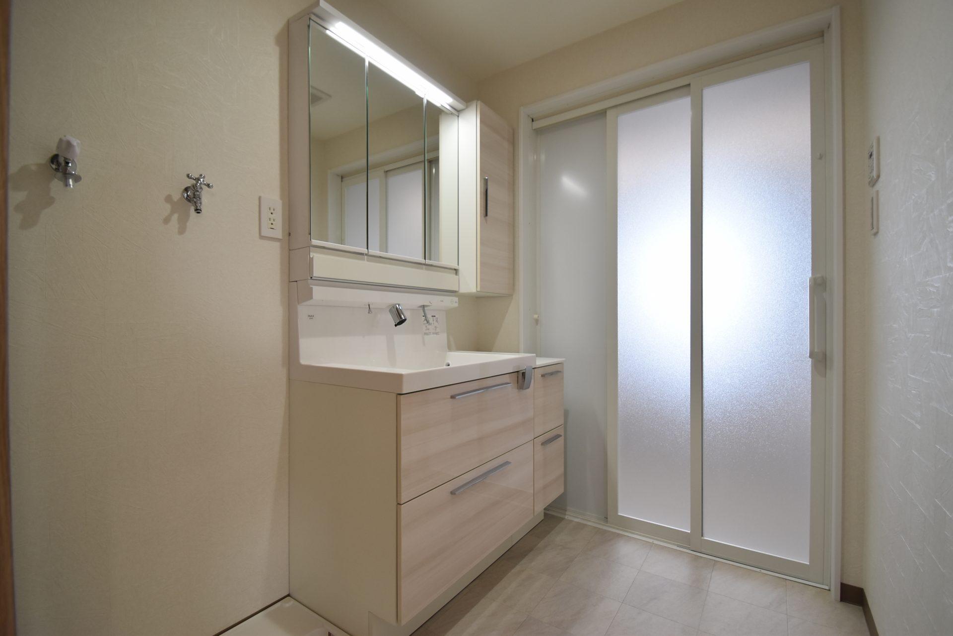 洗面室。リフォーム後。